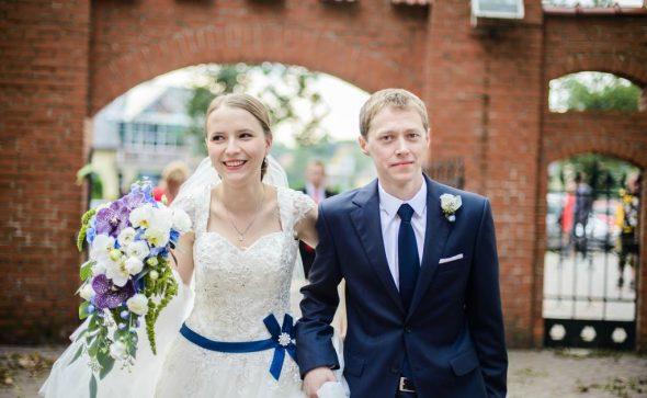 Spływający bukiet ślubny