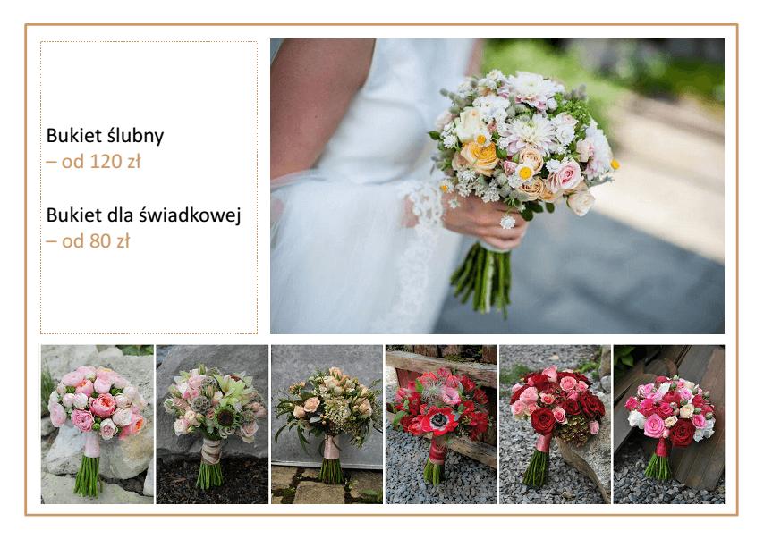 cennik cena bukietów ślubnych Kraków Agnieszka Błaszczyk abkwiaty