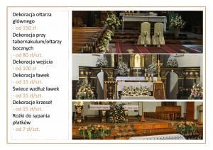 cennik cena dekoracji kościoła na ślub kwiatowe kompozycje Agnieszka Błaszczyk abkwiaty Kraków